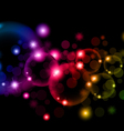 Soap colorful bubbles on black background vector image vector image