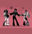 soul party time group man and two girls vector image vector image
