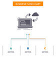 sync processing data dashboard arrows business vector image vector image