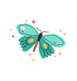 top view butterfly with bright spotty wings vector image