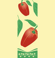 two red peppers vector image