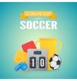 UEFA Euro 2016 background vector image vector image