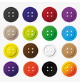 various color buttons for clothing icons set eps10 vector image vector image
