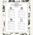 vitaminic column menu - modern hand drawn vector image vector image