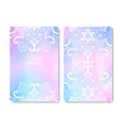 wedding card or invitation lace circular pattern vector image vector image