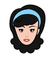 woman female comic pop art vector image