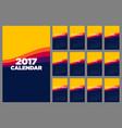 calendar 2017 flat design for a year vector image