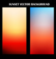 abstract colorful sunset background vector image