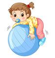 Girl and ball vector image