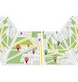 Map navigation vector image