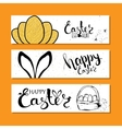 Colourful banners collection for Easter with vector image