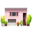 A modern pink house vector image