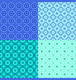 abstract seamless circle pattern background sets vector image vector image