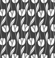 Abstract seamless retro pattern with silhouettes vector image vector image