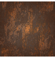 abstract seamless texture of dark brown rusted vector image vector image