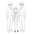 anime manga group vector image vector image