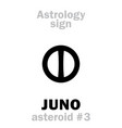astrology asteroid juno vector image vector image