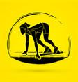 athlete runner runner running graphic vector image vector image