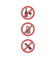 Attention sign set of red attention symbols vector image vector image