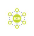 b2b commerce sales icon vector image vector image