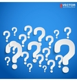 Background with many randomly question marks vector image vector image