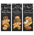bakery bread and pastry food blackboard banners
