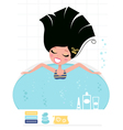 beauty bath vector image