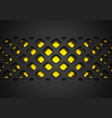 black abstract papercut grid pattern on yellow vector image vector image