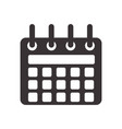 black calendar symbol icon design vector image