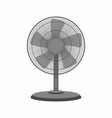 black table fan vector image vector image