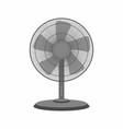 black table fan vector image
