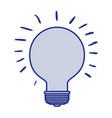 blue silhouette of light bulb idea icon vector image vector image
