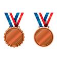 Bronze medals vector image vector image