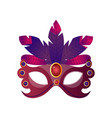 carnival halloween masquerade female mask with vector image