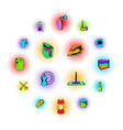 cleaning comics icons vector image vector image