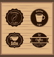 coffee badge labels emblem vector image vector image