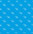 crane truck pattern seamless blue vector image vector image