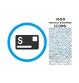 Credit Card Rounded Symbol With 1000 Icons vector image