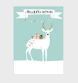 cute christmas greeting card invitation vector image vector image