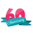 Cute Template 60 Years Anniversary Sign vector image vector image