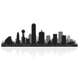 Dallas USA city skyline silhouette vector image vector image