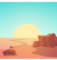 Desert Road vector image vector image