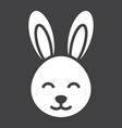 easter rabbit glyph icon easter and holiday vector image vector image
