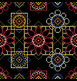 embroidery seamless pattern for bedding vector image vector image