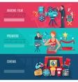 Filmmaking Banners Set vector image vector image