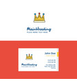 flat crown logo and visiting card template vector image vector image