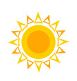 flat sun icon symbol for vector image vector image