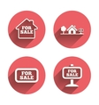 For sale icons Real estate selling vector image vector image