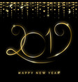 gold 2019 happy new year vector image