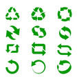 green recycle signs vector image vector image